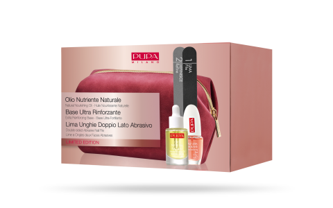 Natural Nourishing Oil & Reinforcing Base & Nail File - PUPA Milano