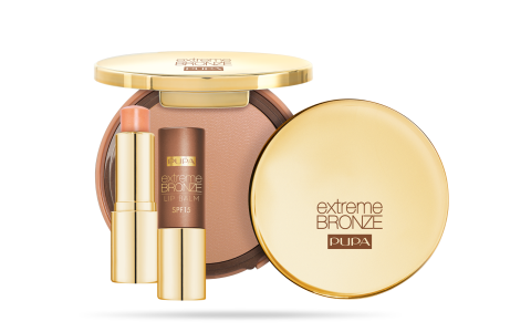 EXTREME BRONZE TANNING COMPACT FOUNDATION SPF 15 UVA/UVB + EXTREME BRONZE LIP BALM