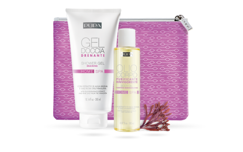 Purifying home spa kit: shower gel and body oil - PUPA Milano